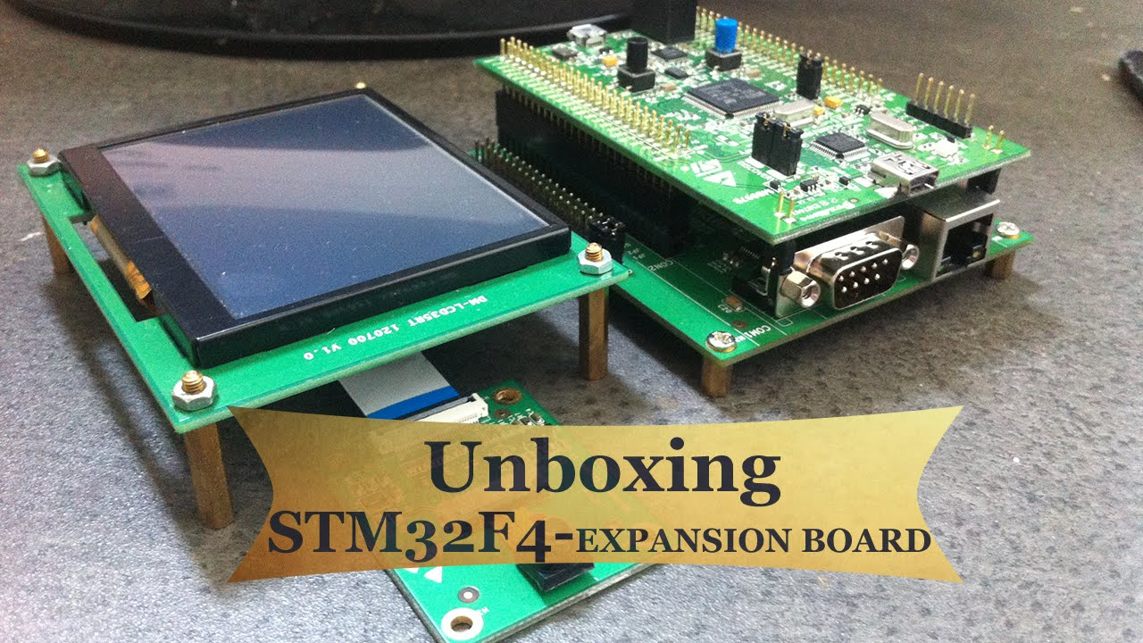 STM32F4 EXPANSION board (STM32F4DIS-Base Board, STM32DIS-CAM,  STM32F4DIS-LCD)