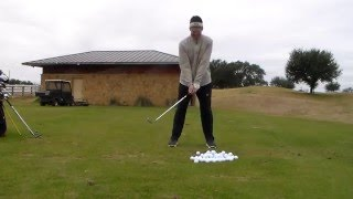 Golf Lesson Dewitt: Better Right Hand Grip And Softening The Body/Club part 1