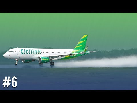 Plane Spotting at Kualanamu International Airport - Amazing Take-Off Jet Blast In Rain #6