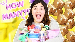 HOW MANY SLIMES DID YOU GUYS SEND ME!?!?! Subscriber slime review | Slimeatory #294