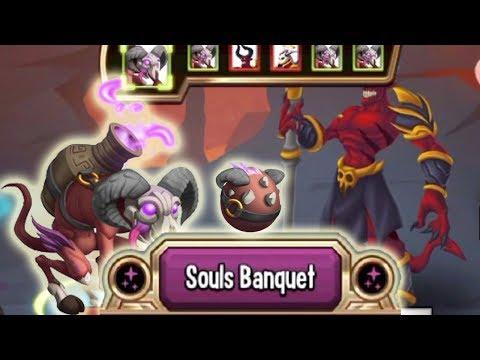 Monster Legends - Soulfagous level 120 vs Barbatos review combat