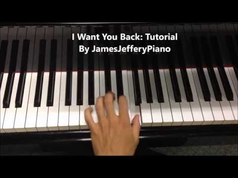 PIANO TUTORIAL ♫ 'I Want You Back' By 'The Jackson 5' ♫ **Sheet Music**