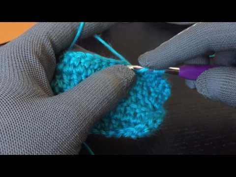 How to DC2TOG (double crochet 2 together) - beginner crochet