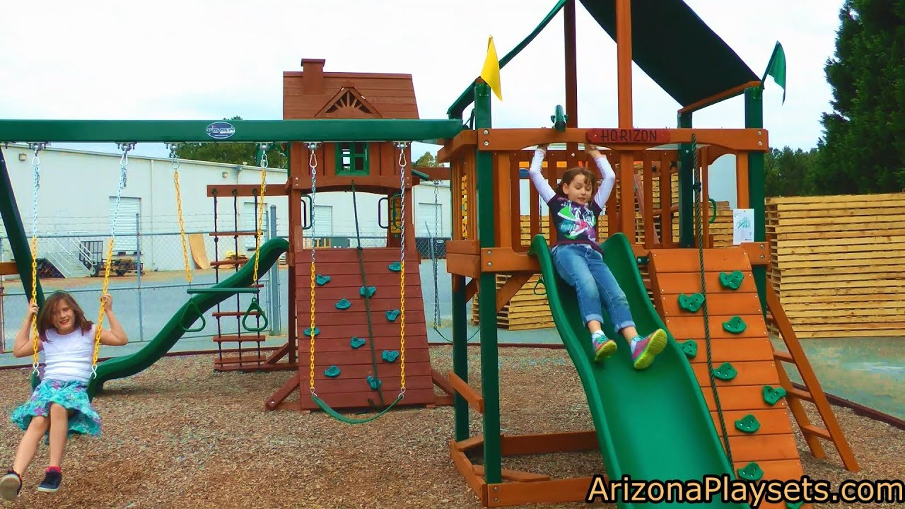 gorilla playsets chateau ii deluxe swing set review from arizona