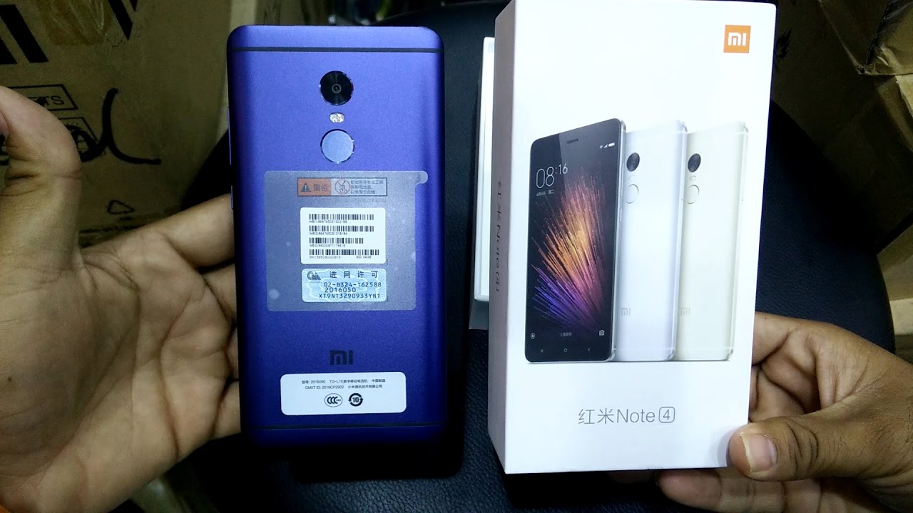 Xiaomi Redmi Note 4 In Dubai: (New Model) Xiaomi Redmi Note 4 Blue 64GB 4GB Ram Unboxing
