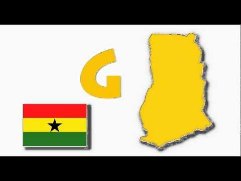 G for Ghana - Map & Flag of Ghana for Children