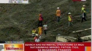 BT: Search and retrieval ops sa mga minero sa Antique, patigil-tigil