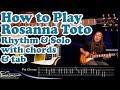 How to play Rosanna on guitar