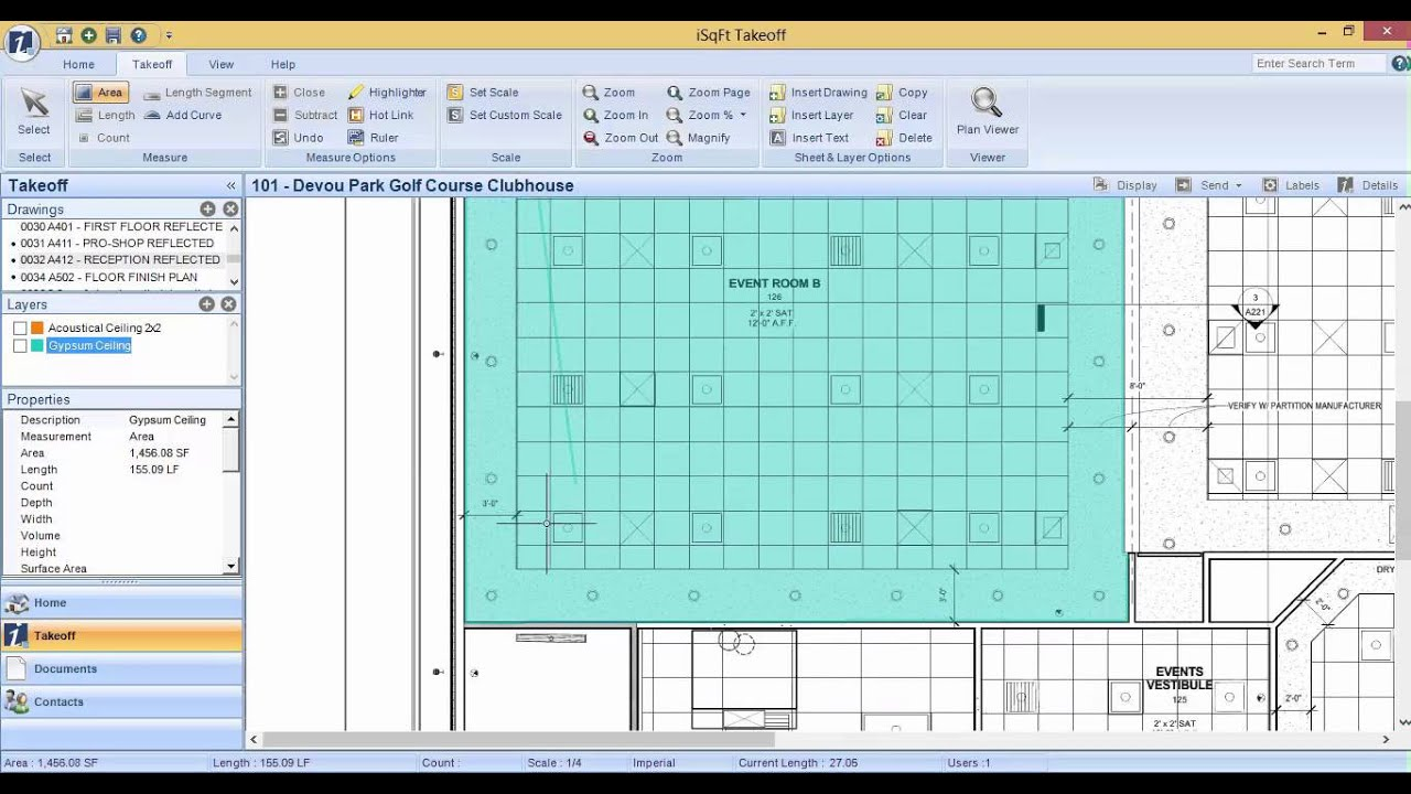 Isqft Takeoff Video Series Subtracting Area Measurements Youtube