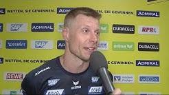 Gudjon Valur Sigurdsson nach dem Löwen-Sieg über Göppingen