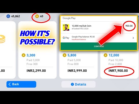 """How To Buy """"Free"""" 2.5k Coin In Pes 2018 - No[ Root/MOD]"""