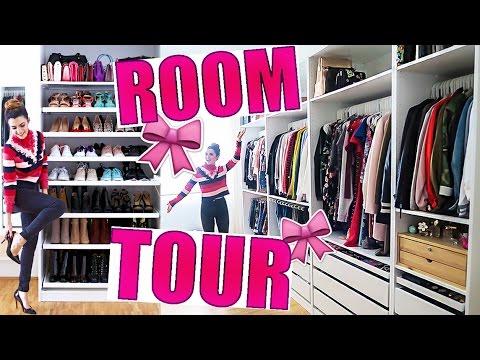 room tour ankleidezimmer kleiderschrank beauty room ikea diy walk in closet kindofrosy. Black Bedroom Furniture Sets. Home Design Ideas