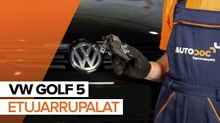 VW GOLF V (1K1) Jarrupalat asennus : ilmainen video