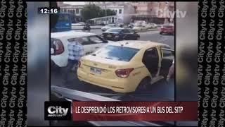 ¡Intolerancia! Hombres desprenden los retrovisores de un bus del SITP  | City Tv