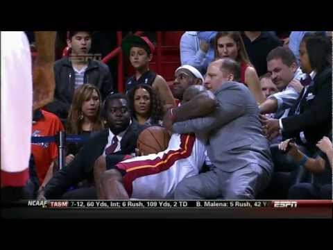 Lebron james grabs Tom Thibodeau
