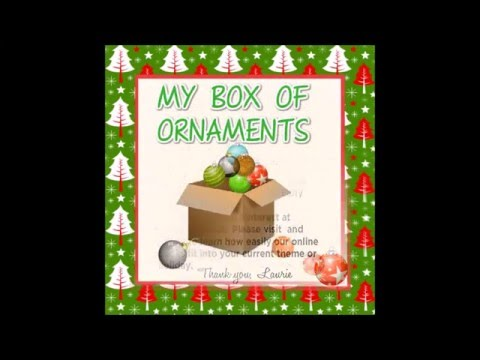 Hasemeier Early Learning Resources - My Box Of Ornaments!