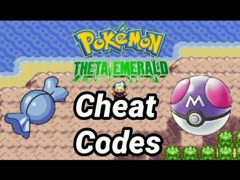 Pokemon Theta Emerald EX CHEAT CODES 100% Working !!