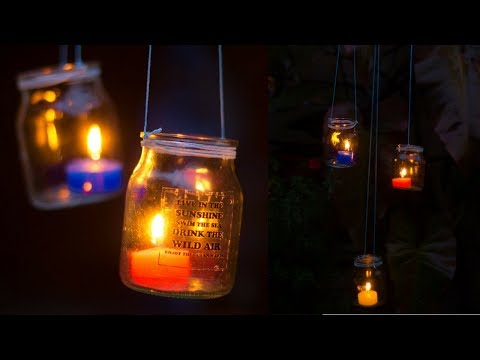 Hanging Jar Lights | Garden Lantern Chandelier | DIY Outdoor Lighting Idea