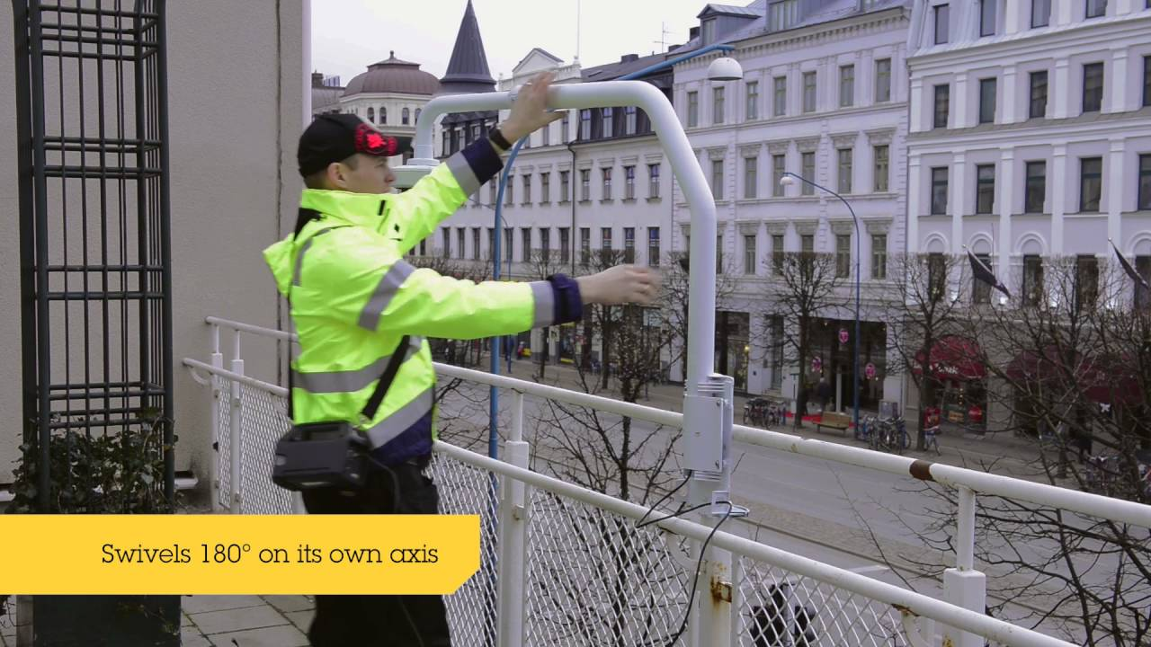 AXIS T91D62 Telescopic Parapet Mount   Axis Communications