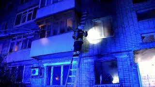 Рятувальники ліквідували пожежу у багатоповерхівці, врятовано жінку