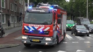 Brandweer Mijnsherenlaan 17-3431 met spoed naar een voertuigbrand in Rotterdam