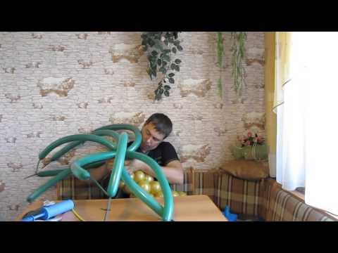 Как сделать пальму из шаров