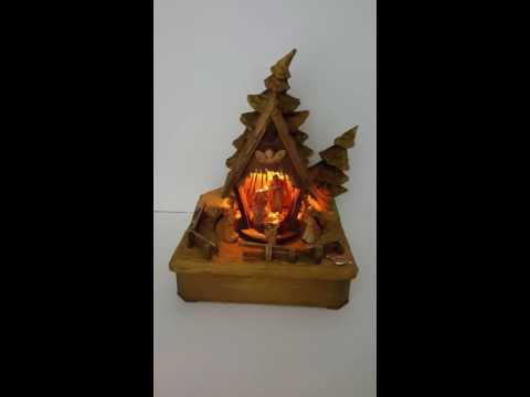 ANRI Kuolt Nativity Scene Thorens Lighted Music Box