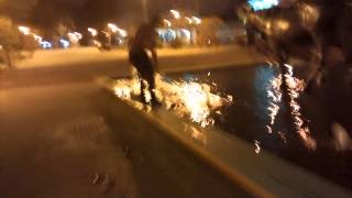 Viral Video UK: BMX wheelie fail into fountain!