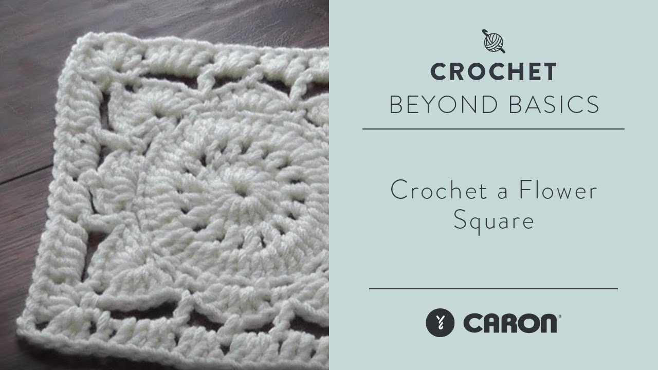 Crochet A Flower Square Youtube