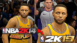 NBA2K14 (PC) Updated as 2K19 tested in 3 Exhibition Games ✓