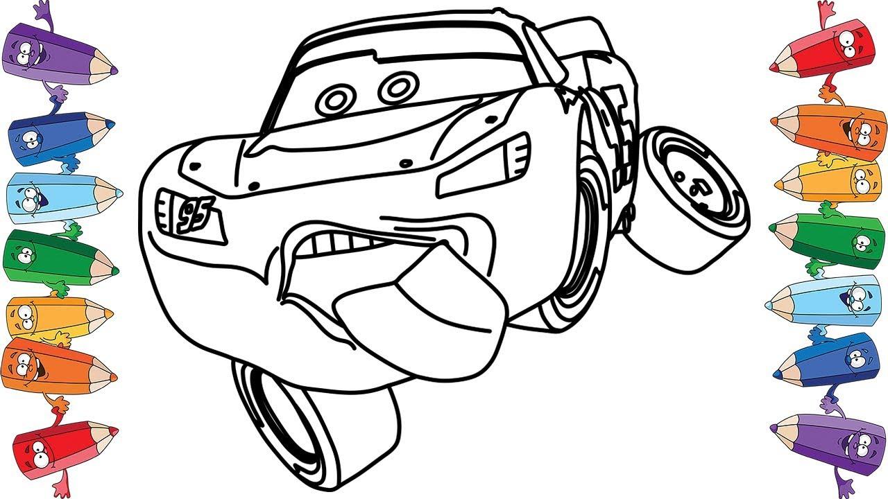 Тачки 3 Молния Маквин Мультик раскраска для детей Cars 3 ...