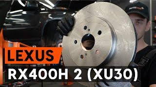 How to replace front brake discs / front brake rotors on LEXUS RX400h 2 (XU30) [TUTORIAL AUTODOC]