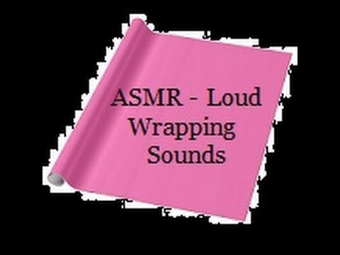 ASMR: Loud Gift Wrapping Sounds - No Talking