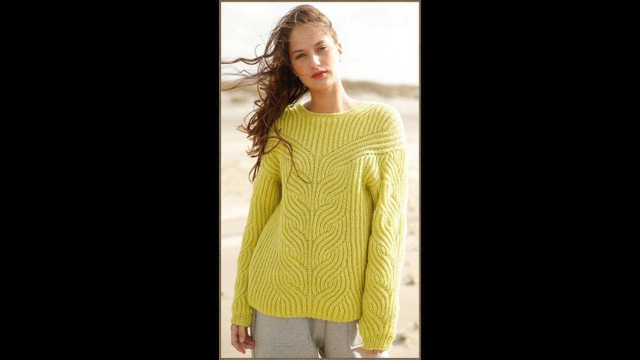 вязание спицами пуловеры для женщин модели 2019 Knitting