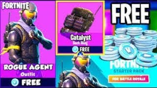 New Free Starter Pack ( ROGUE SKIN) Average Fortnite Player / Free vbucks Giveaway /