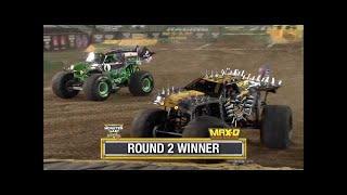 Max D vs Grave Digger Monster Jam World Finals Racing Round 2 2016