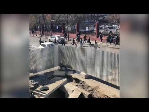 Возле стадиона «Динамо» произошла массовая драка футбольных фанатов