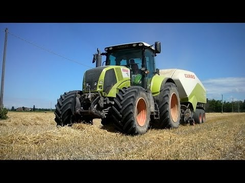 ONLY CLAAS - Made in Germany Axion + Quadrant - Straw Baling in Italy 2013