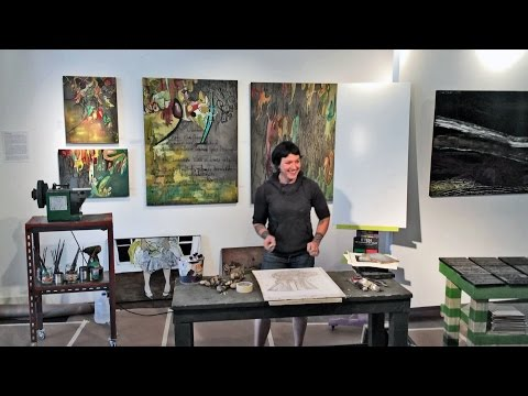 Evan Orlando - Artist Demonstration at J. Pepin Art Gallery