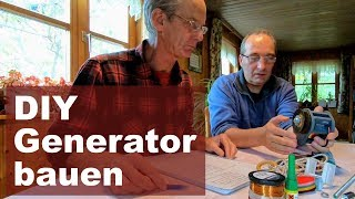 Mobile Stromversorgung (3): DIY Generator Bauanleitung - Strom mit Muskelkraft - Kurbelgenerator