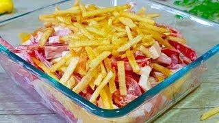 Хочется съесть сразу ВЕСЬ! Необычный САЛАТ из обычных продуктов за 5 минут на Новогодний стол!