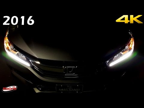 2016 Honda Accord Sport AT NIGHT Interior and Exterior in 4K
