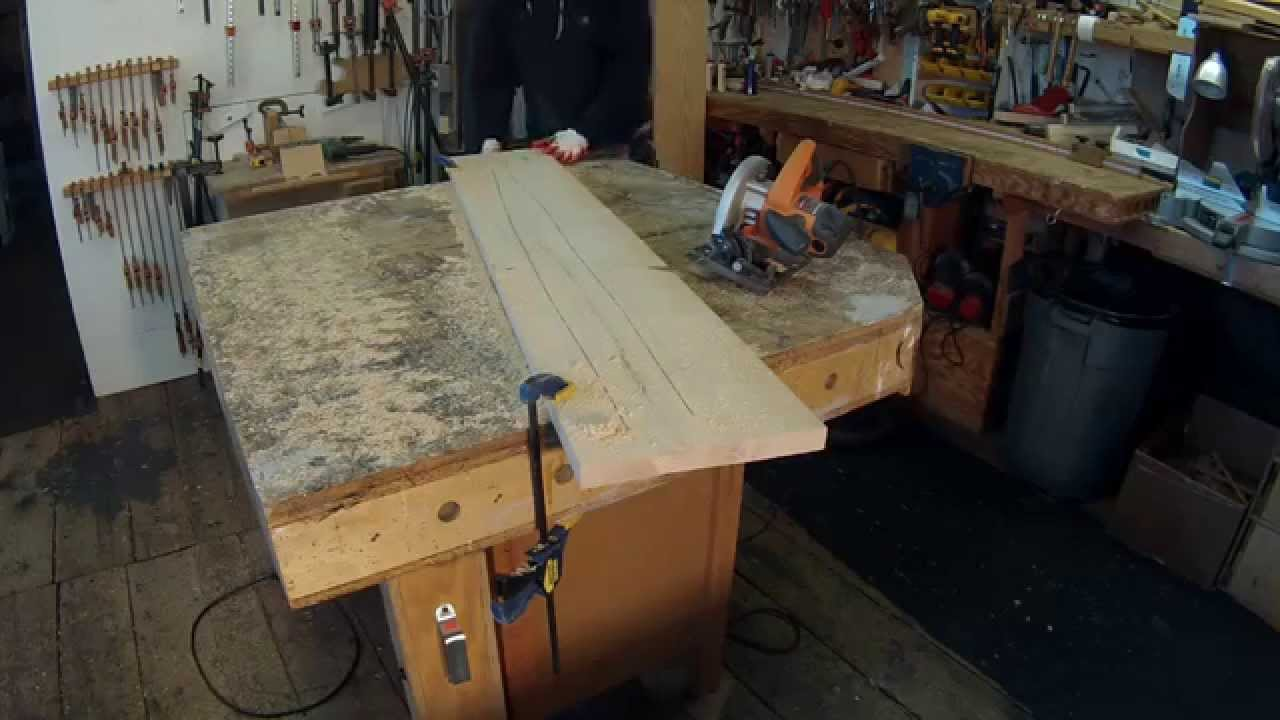 Furniture Making Technique -- Warped Wood Fix - YouTube