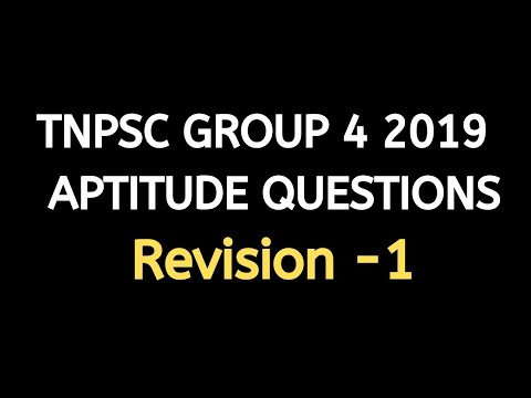 TNPSC Group  4 2018 - Maths Revision -#1