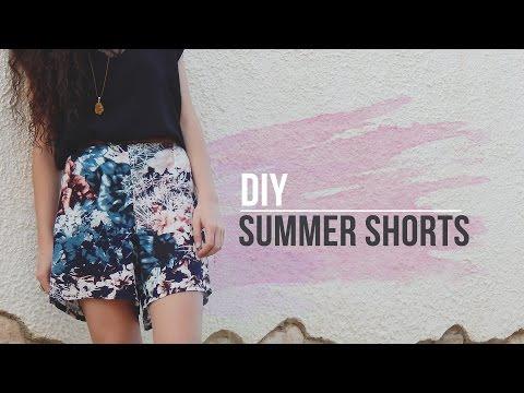 DIY EASY SUMMER SHORTS | Pantalón corto estampado