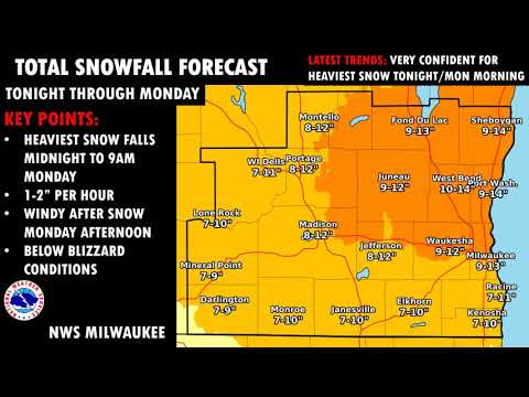 Milwaukee News - Major Winter Storm Begins Sunday Night; Record-Setting Cold to Follow