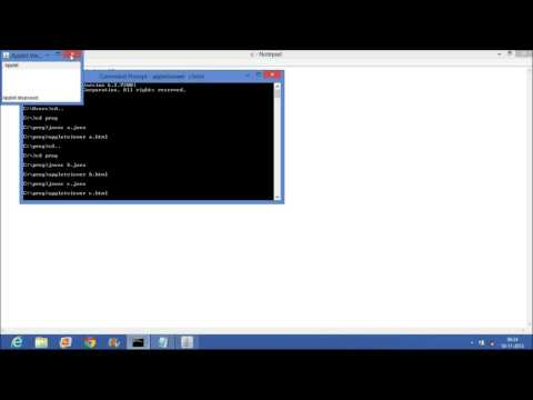 How to run Applet on command promt (CMD) and in Eclipse
