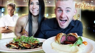 """WE ATE AT GORDON RAMSAY'S """"HELLS KITCHEN""""! ($150 FINE DINING EXPERIENCE)"""