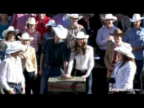 Royal couple Prince William and Kate Middleton launch Calgary Stampede