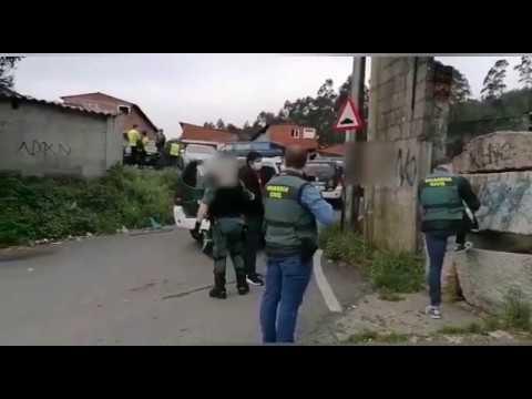 Detenciones en O Vao por la agresión a dos policías